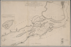 "William Faden, The Course of the Delaware River from Philadelphia to Chester (Philadelphia, 1778). Free Library of Philadelphia. While Paxton critics and apologists assailed one another's character and debated politics, one hundred forty Lenape and Moravian Indians languished in internment. These individuals were first held at Province Island, where the Philadelphia International Airport is situated today. They likely resided at the ""Pest House,"" noted in this map."