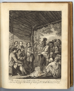 Jacob Taylor, Survey (Lancaster, 1717). Pennsylvania State Archives. Benjamin West's engraving features several aspects of treaty-making, including the recording of minutes (the scribe takes notes) and the exchange of wampum (held by the chief).