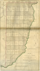 Mathew Carey, Plat of the Seven Ranges of Townships being Part of the Territory of the United States N.W. of the River Ohio (Philadelphia, 1814). The Library Company of Philadelphia. Mathew Carey's atlas illustrates how the territories northwest of the Ohio River were incorporated into the United States following the passage of the Northwest Ordinance. That territory was carved out of the trans-Appalachian west, including the very territories contested by the Paxtons.